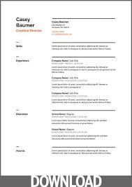 Google Doc Resume Template Modern 45 Free Modern Resume Cv Templates Minimalist Simple