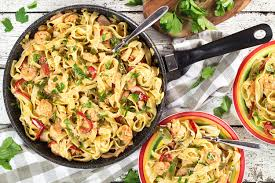 this creamy cajun shrimp and sausage pasta makes a perfect weeknight dinner it s quick