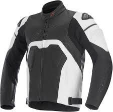 alpinestars core leather jacket clothing jackets motorcycle black white alpinestars gp pro gloves new