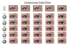 Contacts Color Chart This Shows U What Color Contacts Would