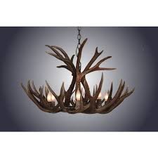 4 light small mule deer antler chandelier by antlerworx s