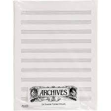 Archives Double Folded Manuscript Paper 10 Stave