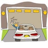 broken garage door opener broken garage door