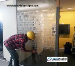 office glass frosting. frosted glass office rainmaker signs frosting l