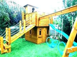 free playhouse plans that children pas alike will love backyard