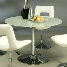 frost glass dining table pastel furniture round dining table in frosted glass white frosted glass dining