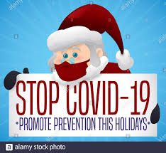 Cute Santa Claus with awareness sign, promoting prevention against COVID-19  during Christmas and holiday season Stock Vector Image & Art - Alamy