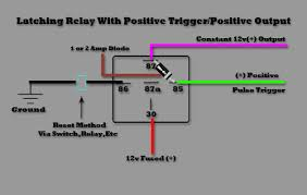 latching relay v trigger the issue i am having is that i don t want to have to install a switch in between the ground to break it once the alarm is activated the output from the