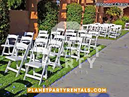 white wooden folding chair with padded seat for weddings
