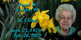 Funeral for Pearl M. Cordie, 98, of Sartell (formerly of St. Cloud) - The  News Leaders