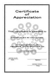 Printable Appreciation Certificates Free Printable Certificates Of Appreciation