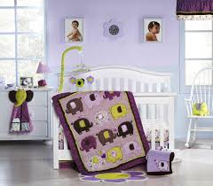 purple elephant nursery bedding