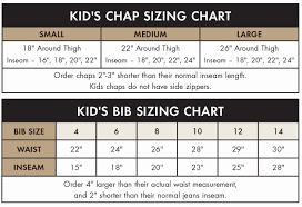 Chaps Boys Size Chart Faq Sizing Order Information Dans Hunting Gear In Ohio