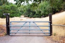 fence gate. fence gate rural iron country natural