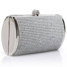 Luxury <b>Silver Clutch Party</b> Wedding <b>Purse Evening</b> Handbag ...