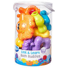 playgro link and learn bath buds