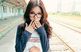Cute Asian Girl Glasses