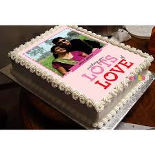 Order Valentines Special Delicious Couple Photo Cake Online