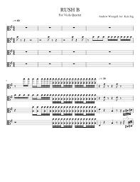 Sheets piano, 2012 — 2021. Rush B For Viola Quartet Sheet Music For Viola String Quartet Musescore Com