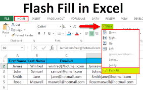 Flash Charts In Excel Flash Fill In Excel Examples How To Apply Flash Fill