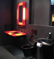 sink modern black bathroom minimalist bathroom decor with modern closet and unusual black sink wi