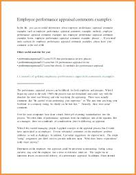 Examples Of Performance Review 16 Completed Performance Review Examples Auterive31 Com