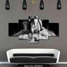 black and white cowboy wall art