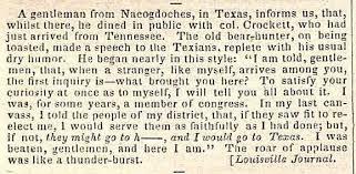 Davy Crockett Quotes Enchanting Texas Heritage Society David Crockett Quote