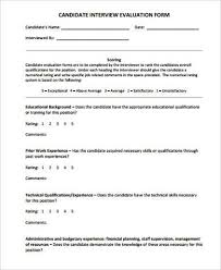 interview assessment form template interview evaluation form for managers oyle kalakaari co