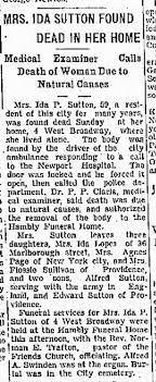 Mrs Ida Sutton death Newport RI - Newspapers.com