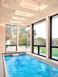 indoor pool house with slide. Home Indoor Pool Small Modern Rectangular House Idea In Swimming With . Slide
