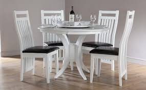 glamorous white round table and chairs fancy dining set kitchen white round dining room table sets
