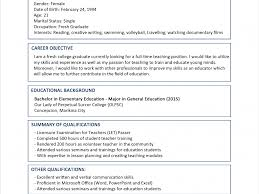 Awesome Idea Resume Format Samples 10 Sample For Fresh Graduates