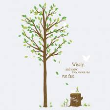Tree Quotes Impressive Inspirational Quote Tree Stump Forest Bird Wall Stickers
