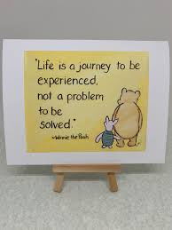 Life Is A Journey Classic Winnie The Pooh Meaning Of Life Quote Card