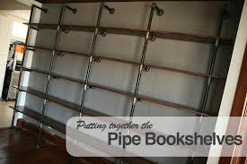 building the pipe bookshelves