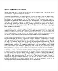 Personal Statement Grad School Samples Sample Personal Statements 9 Examples In Word Pdf
