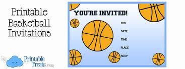 Birthday Invitations Printable Printable Basketball Birthday Party Invitations Printable Treats Com
