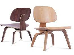 eames molded plywood lcw chair (platinum replica)