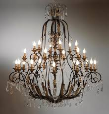 classic wrought iron crystal chandelier intended for and prepare 13