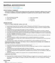 General Professional Summary For Resume General Practitioner Resume Sample Resumes Misc Livecareer