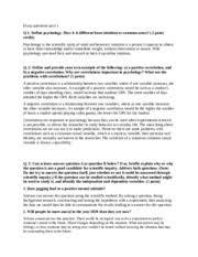 essay questions quiz describe posttraumatic stress disorder  2 pages essay questions quiz 1