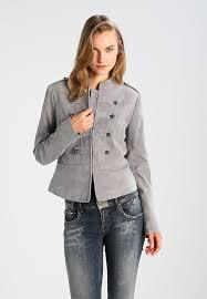 zalando new banana republic light grey suede band leather jacket