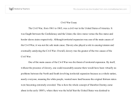 civil war essay international baccalaureate history marked by document image preview