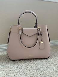 michael kors blakely medium soft pink leather tote handbag