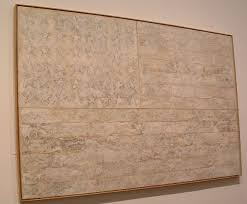 photo of jasper johns painting white flag at the metropolitan museum of art