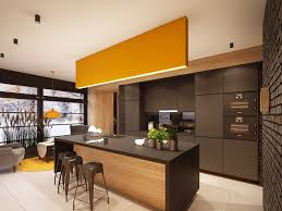 Yellow And Brown Kitchen Contemporary Kitchen Best Modern Yellow Accent Kitchens Design