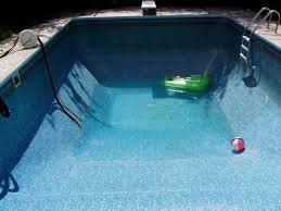 picture of draining and refilling an inground swimming pool