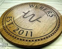 wine barrel head signs heads used wall art lid clock lazy uk