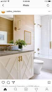 white bathroom subway tile br fixtures hardware sconces custom vanity details gr cloth i would restrict wallpaper to powder room only but